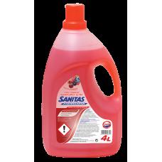 Sanitas Professional Υγρό Γενικού Καθαρισμού  Φρούτα του Δάσους 4 λίτρα