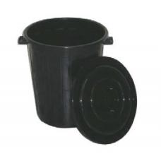 Κάδος απορριμμάτων Planet πλαστικός στρογγυλός με καπάκι 70 λίτρων