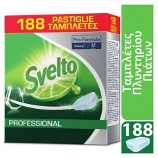 Svelto Professional Ταμπλέτες για πλυντήριο πιάτων - ποτηριών - σκευών 188τεμ/πακέτο