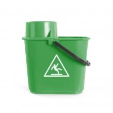 Κουβάς σφουγγαρίσματος με στίφτη πράσινος 14 λίτρων