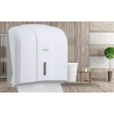 Χαρτοθήκη για χειροπετσέτα τύπου Ζικ Ζακ  Λευκή  Κ4  C&V Folded Paper Towel Dispenser Capacity 400 (White)